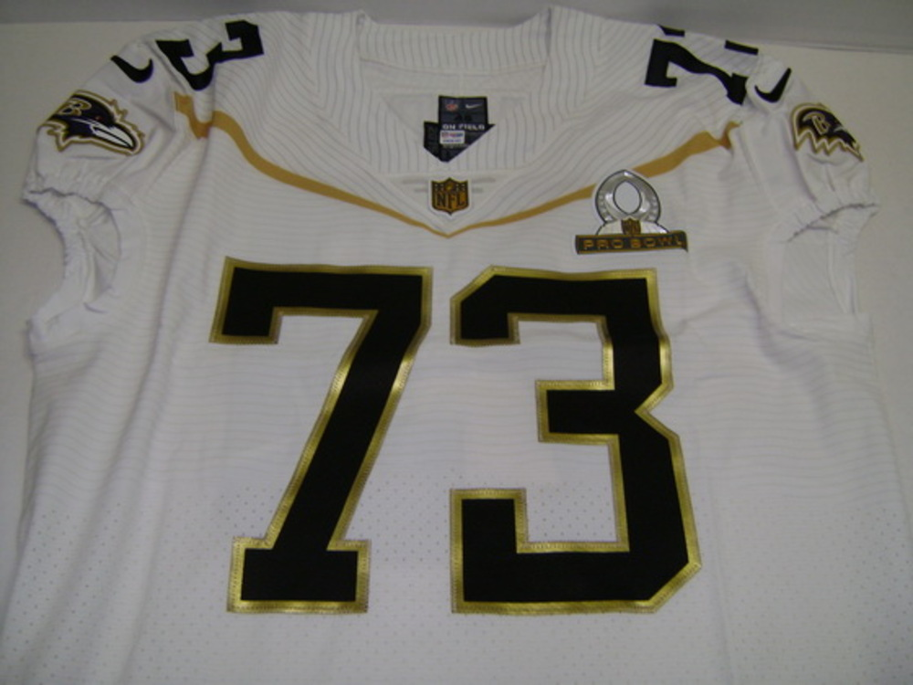 NFL - RAVENS MARSHAL YANDA 2016 TEAM RICE GAME ISSUED PRO BOWL JERSEY - SIZE 46