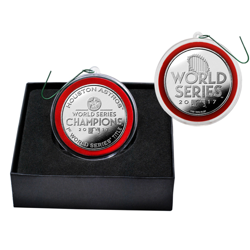 Photo of Houston Astros 2017 World Series Champions Silver Mint Coin Ornament