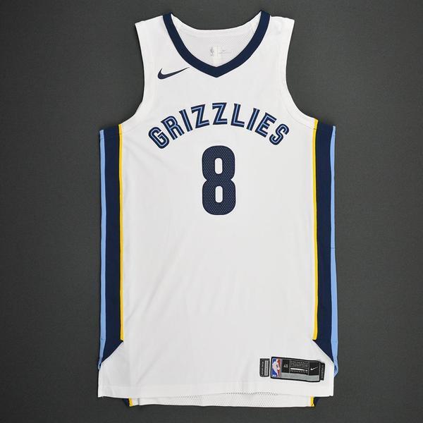 8bbbd71d4972 James Ennis III - Memphis Grizzlies - Kia NBA Tip-Off 2017 - Game-Worn  Jersey