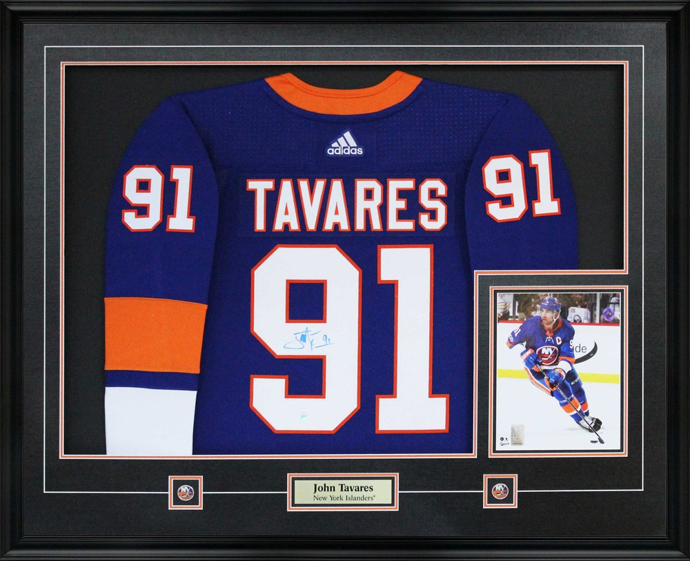 John Tavares - Signed Jersey Framed With 8x10 Islanders Pro Blue 17 ...