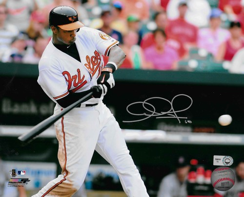 Photo of Adam Jones Autographed 8x10 Photo (Batting)