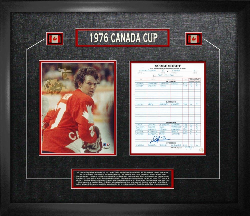 Darryl Sittler - Signed 1976 Canada Cup Scoresheet