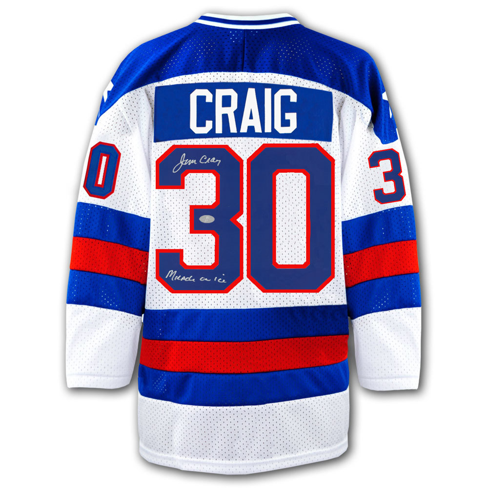 Jim Craig Team United States USA Autographed Jersey - NHL Auctions