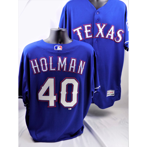 Photo of 2017 Brad Holman Blue Game-Used Jersey