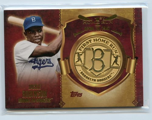 Photo of 2015 Topps Update First Home Run Medallions  Jackie Robinson