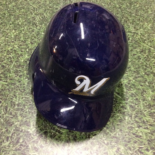Photo of Brett Phillips 2017 Team-Issued Navy Alternate Batting Helmet