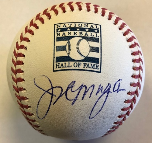 Joe Morgan Autographed HOF Logo Baseball