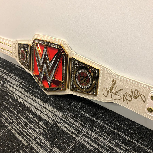 Photo of Ronda Rousey, Becky Lynch, & Charlotte Flair SIGNGED RAW Women's Championship Replica Title