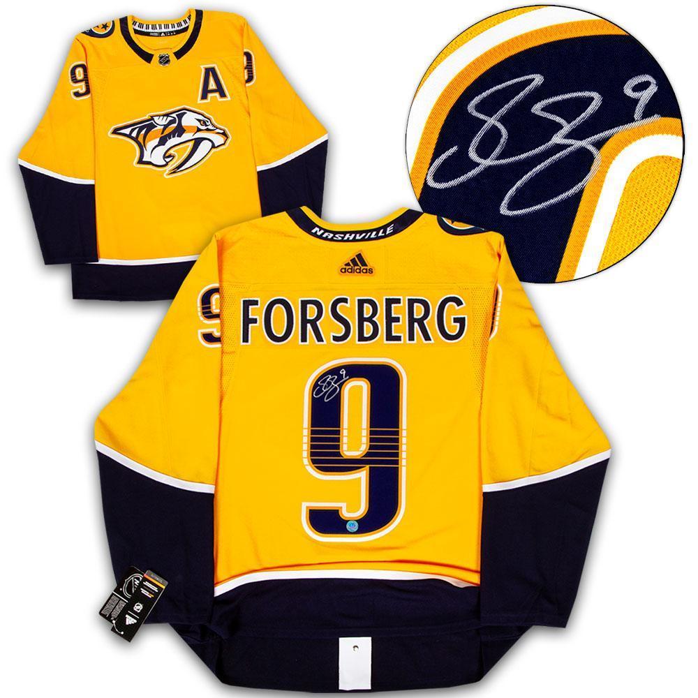 Filip Forsberg Nashville Predators Autographed Adidas Authentic Hockey Jersey