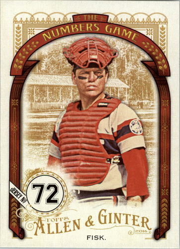 Photo of 2016 Topps Allen and Ginter The Numbers Game #NG87 Carlton Fisk