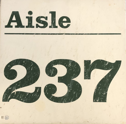 Photo of 12 Days of Auctions: Day 4 -- Wrigley Field Collection --  Aisle Marker 237