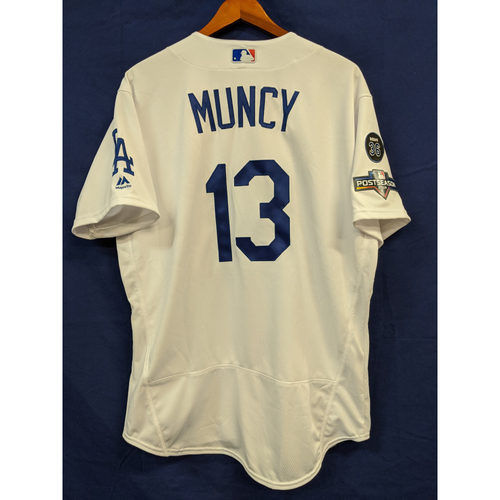 Photo of Max Muncy Team Issued 2019 Home Postseason Jersey