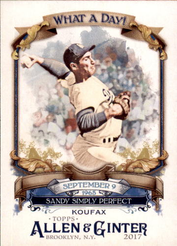 Photo of 2017 Topps Allen and Ginter What a Day #WAD29 Sandy Koufax