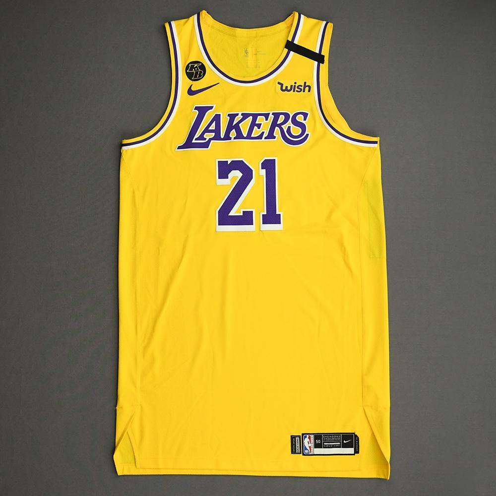 JR Smith - Los Angeles Lakers - Game-Worn Icon Edition Jersey ...