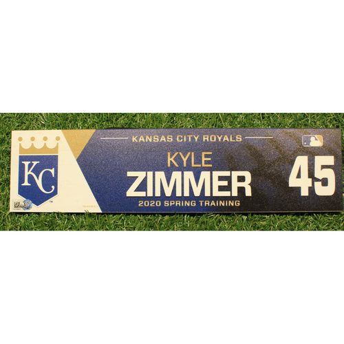 Photo of Game-Used 2020 Spring Training Locker Tag: Kyle Zimmer #45
