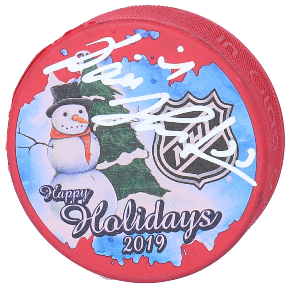 Dominik Hasek Detroit Red Wings Autographed Inglasco 2019 Happy Holidays Hockey Puck - NHL Auctions Exclusive
