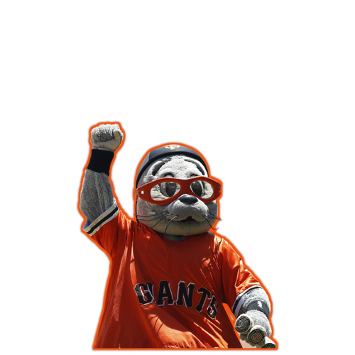 Photo of Giants Community Fund: Giants Lou Seal Cutout