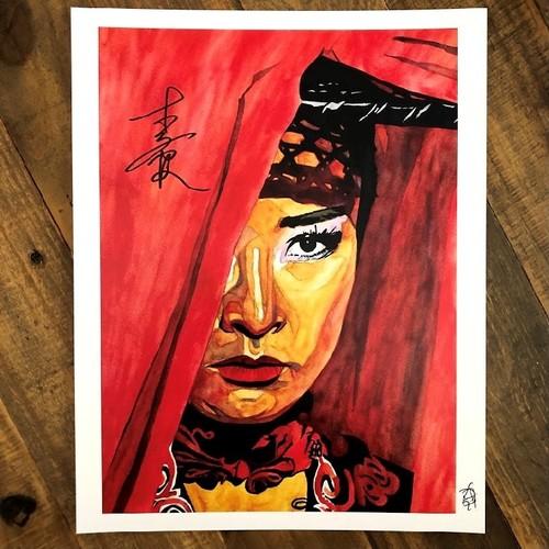 Photo of Xia Li SIGNED 11 x 14 Rob Schamberger Print (Transformed)