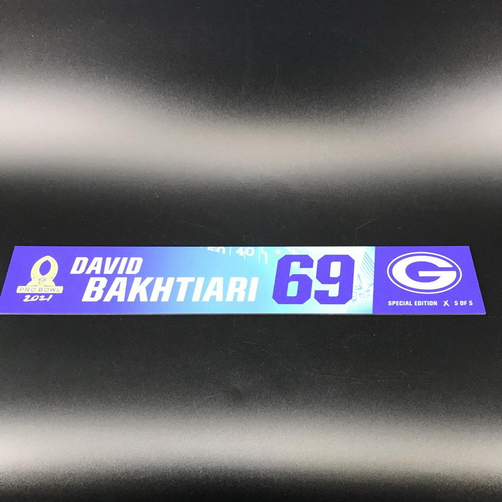 NFL - Packers David Bakhtiari 2021 Pro Bowl Locker Nameplate Special Edition #5 of 5