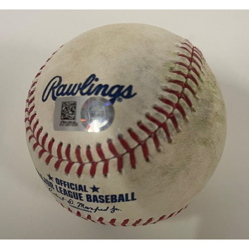 Game Used Baseball - 5/31/2021 White Sox at Indians Game 1 - Cesar Hernandez Home Run off Pitcher Carlos Rodon