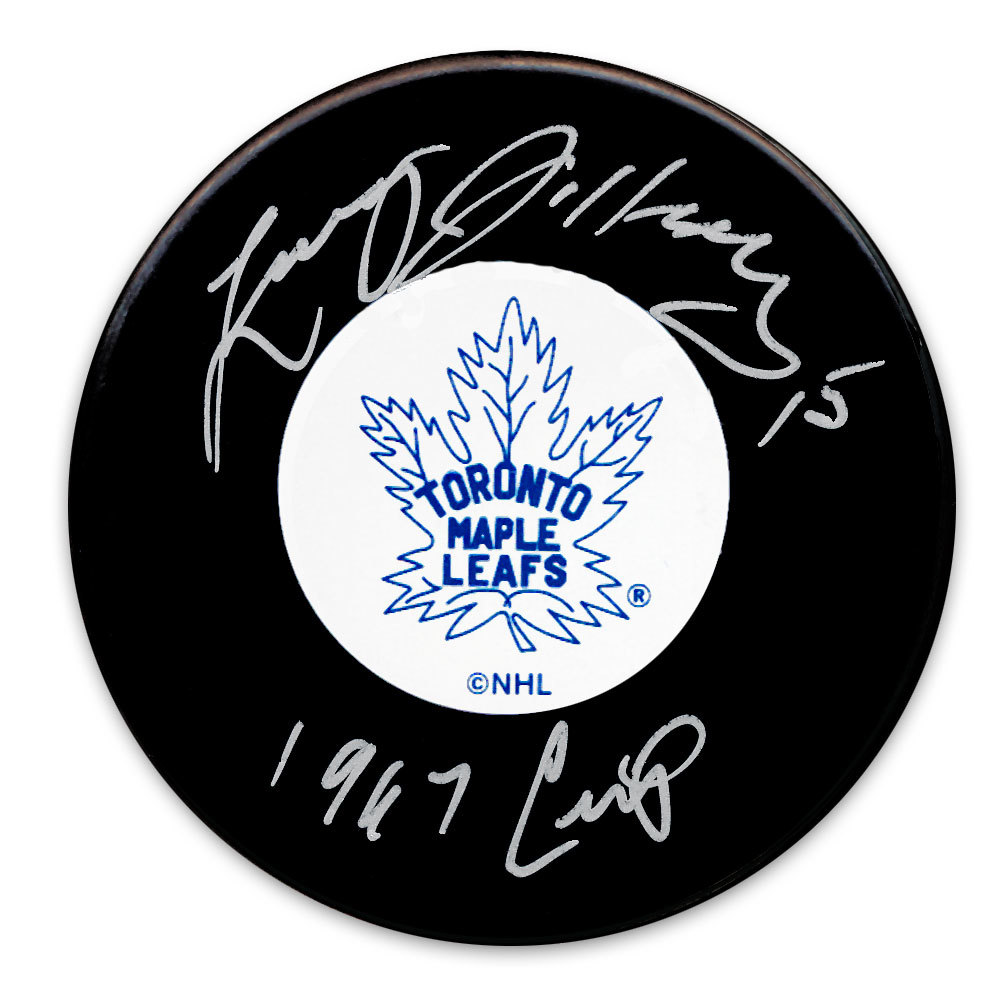 Larry Jeffrey Toronto Maple Leafs 1967 Cup Autographed Puck