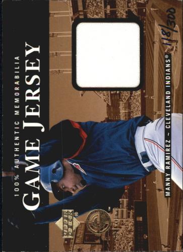 Photo of 2000 Upper Deck eVolve Game Jersey #EJ6 Manny Ramirez