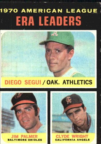 Photo of 1971 Topps #67 AL ERA Leaders/Diego Segui/Jim Palmer/Clyde Wright