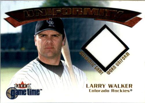 Photo of 2001 Fleer Game Time Uniformity #21 Larry Walker