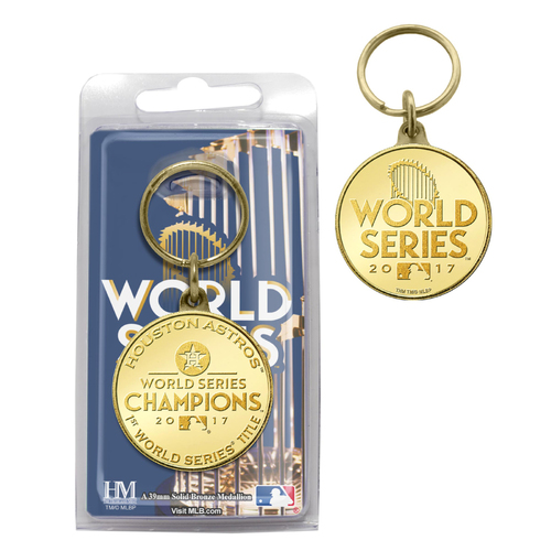 Houston Astros 2017 World Series Champions Bronze Coin Keychain
