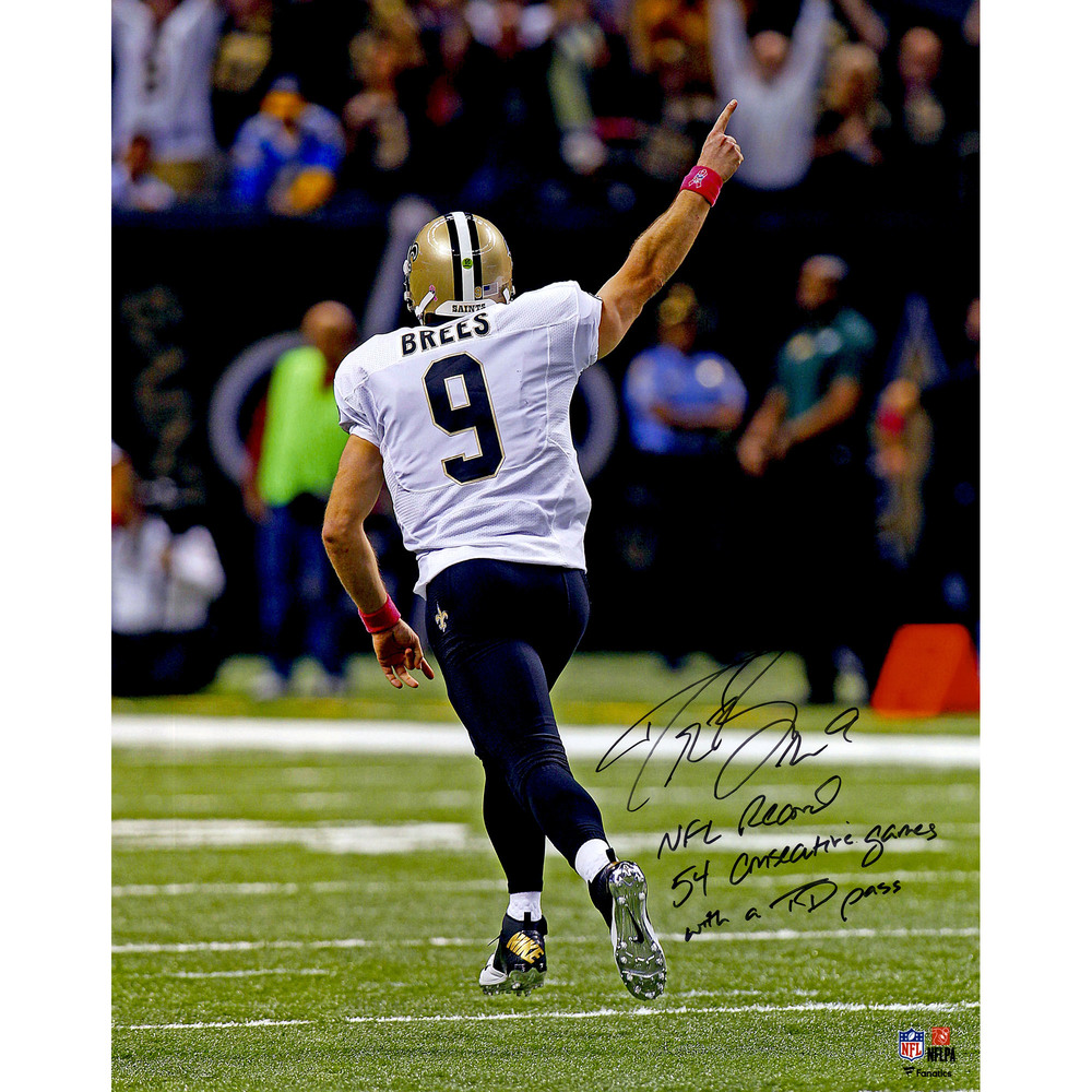 Drew Brees New Orleans Saints Autographed 16