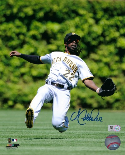 Photo of Andrew McCutchen Autographed 8x10 Photo (Slide)