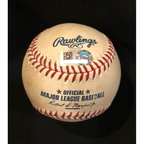 Photo of Willson Contreras - Game-Used Baseball - Fifth Career Hit-By Pitch, First of 2017 Season