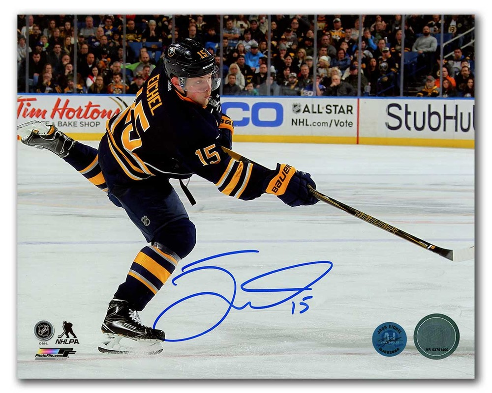 Jack Eichel Buffalo Sabres Autographed Hockey Sniper 8x10 Photo