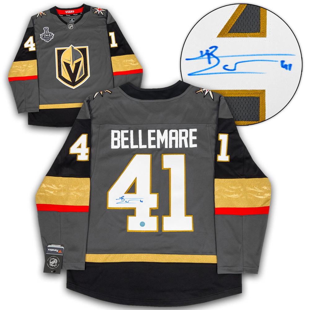 Pierre-Edouard Bellemare Vegas Golden Knights Autograhed 2018 Stanley Cup Finals Fanatics Replica Jersey