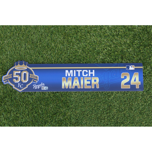 Photo of Game-Used Locker Nameplate: Mitch Maier