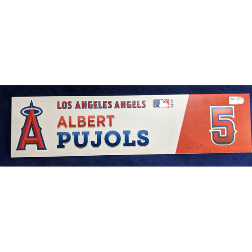 Photo of Albert Pujols Team-Issued 2018 Locker Tag