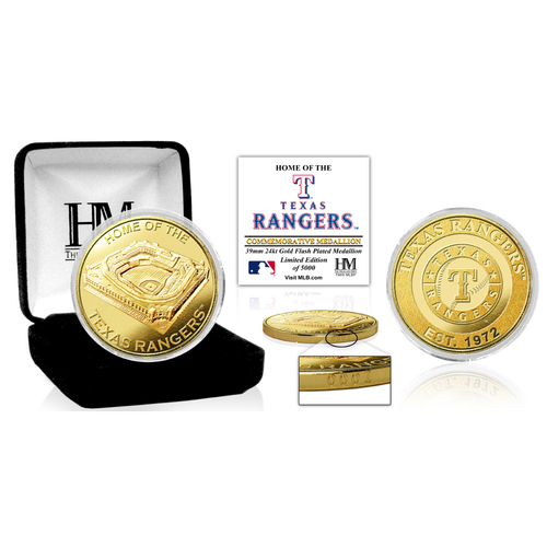 "Photo of Texas Rangers ""Stadium"" Gold Mint Coin"