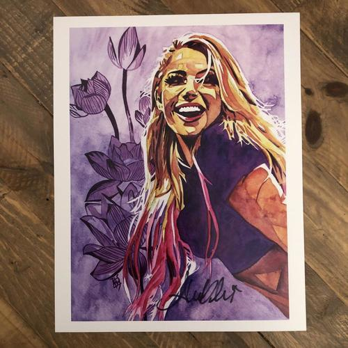 Photo of Alexa Bliss  SIGNED 11 x 14 Rob Schamberger Print (2020 Collection)
