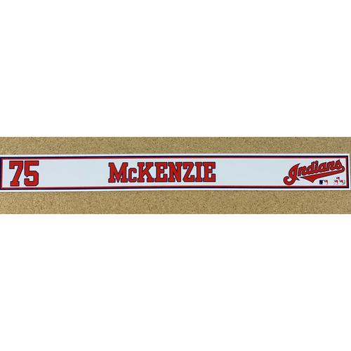 Photo of Triston McKenzie 2020 Spring Training Game-Used Locker Name Plate