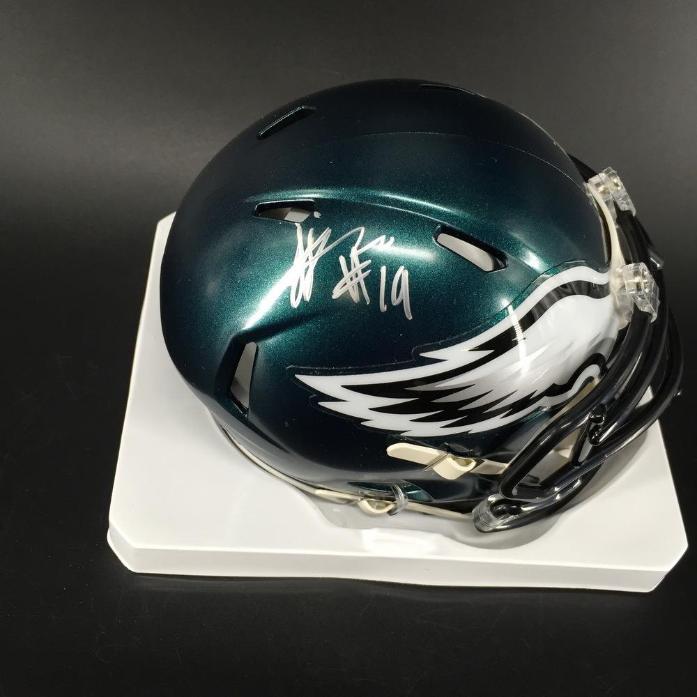 NFL - Eagles JJ Arcega-Whiteside Signed Mini Helmet