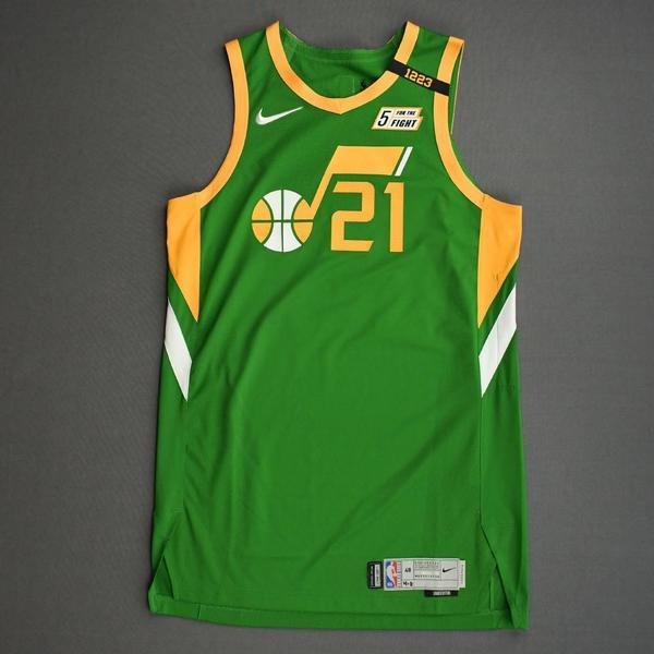 Image of Matt Thomas - Utah Jazz - Game-Issued Earned Edition Jersey - 2020-21 NBA Season