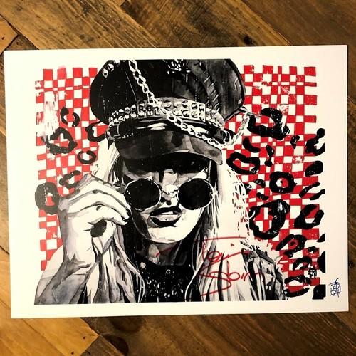 Photo of Toni Storm SIGNED Rob Schamberger 11 x 14 Art Print (Clashing Patterns)