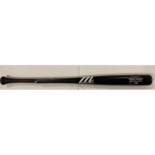 Photo of Dansby Swanson Game Used Cracked Bat, Ground Out - June 1, 2021