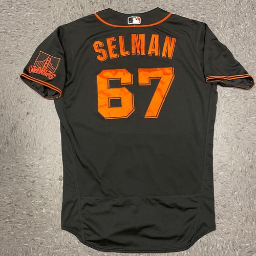 Photo of 2021 Team Issued Black Home Alt Jersey - #67 Sam Selman - Size 44