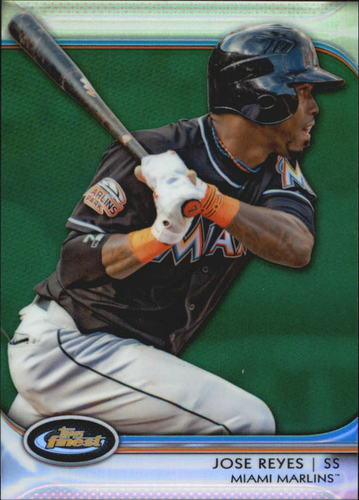 Photo of 2012 Finest Green Refractors #90 Jose Reyes