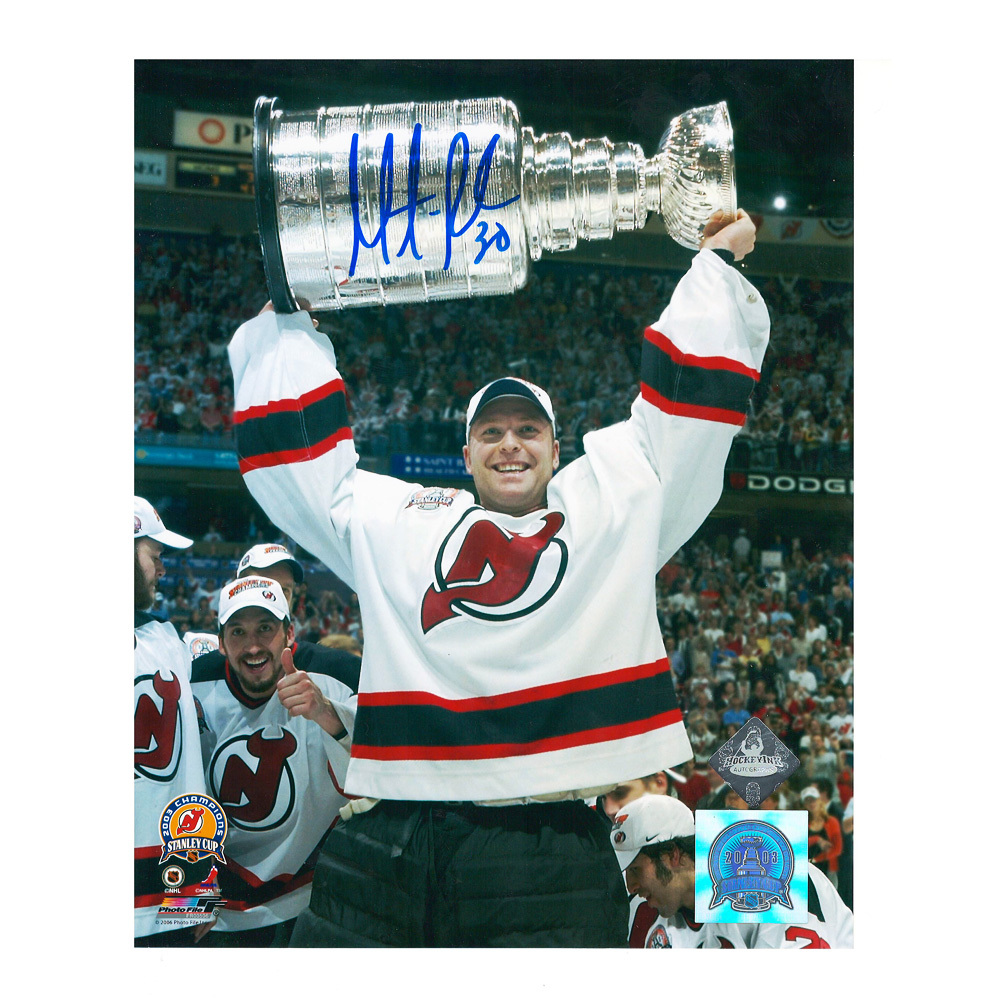 MARTIN BRODEUR Signed New Jersey Devils Stanley Cup 8 X 10 Photo - 70289