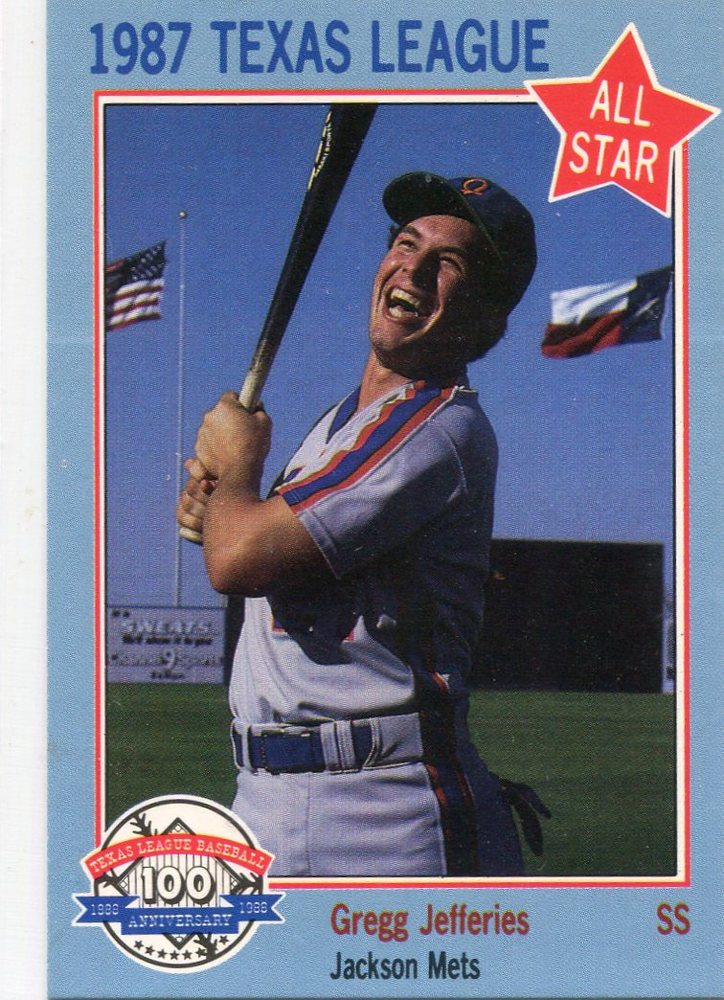 1987 Texas League All-Stars Feder #11 Gregg Jefferies