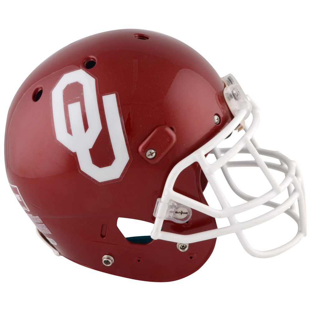 Oklahoma Sooners Game-Used Crimson XP Football Helmet from the 2016 Season - Size Medium