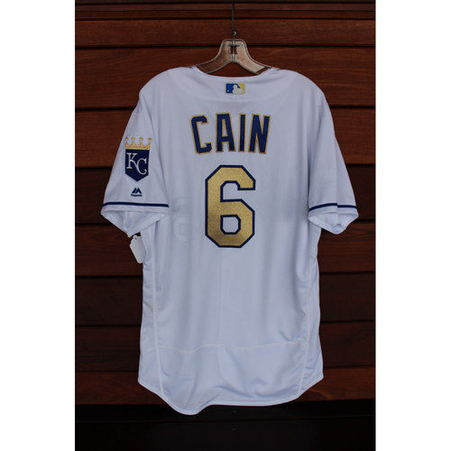 Game-Used Jersey: Lorenzo Cain (Size 46 - CLE at KC - 8/18/17)