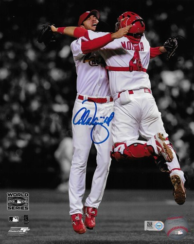 Photo of Adam Wainwright Autographed 8x10 Photo (Celebration)